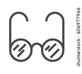 glasses thin line vector icon....   Shutterstock .eps vector #606977966