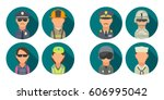 set icon people different... | Shutterstock .eps vector #606995042