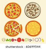 pizza | Shutterstock .eps vector #60699544