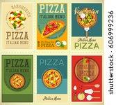 traditional italian food... | Shutterstock .eps vector #606999236