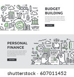 doodle vector illustrations of... | Shutterstock .eps vector #607011452