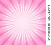 abstract soft pink rays... | Shutterstock .eps vector #607012445