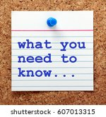 the words what you need to know ... | Shutterstock . vector #607013315