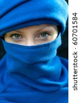 girl with scarf | Shutterstock . vector #60701584