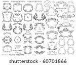 vintage retro black frames   Shutterstock .eps vector #60701866