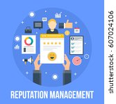 on line reputation management.... | Shutterstock .eps vector #607024106