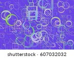 abstract embossed   random... | Shutterstock . vector #607032032