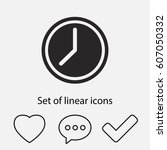 clock icon. one of set web icons