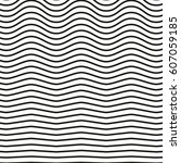 black and white striped lines.... | Shutterstock .eps vector #607059185