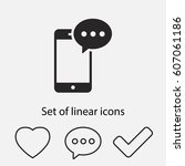 mobile phone sms icon. one of...