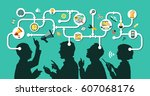 business people group over... | Shutterstock .eps vector #607068176
