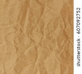 Small photo of Close up of brown crinkle paper.