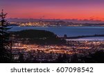 panorama night view of san... | Shutterstock . vector #607098542