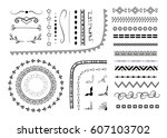 set of different vector... | Shutterstock .eps vector #607103702