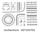 set of different vector... | Shutterstock .eps vector #607103702