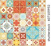 seamless pattern with with... | Shutterstock .eps vector #607105952