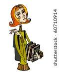 vector illustrated cute little... | Shutterstock .eps vector #60710914