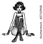 vector illustrated cute girl  ... | Shutterstock .eps vector #60710968