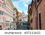 rome  italy   february 3  2017  ...   Shutterstock . vector #607111622