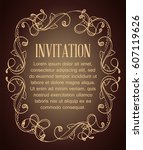 vintage background with brown... | Shutterstock .eps vector #607119626