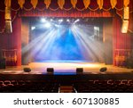 the stage of the theater... | Shutterstock . vector #607130885