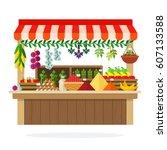 Street Wooden Vegetable Kiosk...
