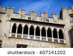 castello del buonconsiglio ... | Shutterstock . vector #607141202