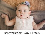 baby girl | Shutterstock . vector #607147502