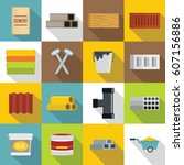 construction materials icons...