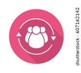 team management flat design... | Shutterstock .eps vector #607162142