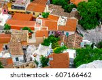 old plaka  athens  greece | Shutterstock . vector #607166462
