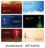 set of cards with christmas... | Shutterstock .eps vector #60716926