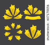 a set of stars. yellow stars  | Shutterstock . vector #607170056