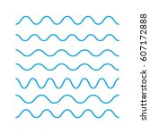 waves outline icon  modern... | Shutterstock . vector #607172888