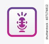 microphone icon. vector...   Shutterstock .eps vector #607176812