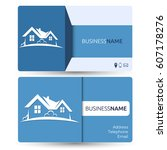 business card for real estate... | Shutterstock .eps vector #607178276