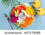 Tropical Fruits Assortment On A ...
