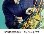 Man Making Model Ship.