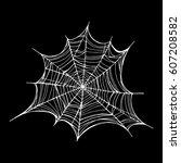 spiderweb  trap. vector... | Shutterstock .eps vector #607208582
