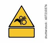 crushing of hands sign vector... | Shutterstock .eps vector #607210376