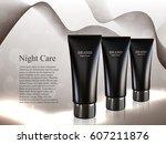 skin toner tubes isolated on... | Shutterstock .eps vector #607211876