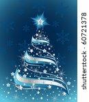 sparkling christmas tree | Shutterstock .eps vector #60721378