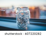 Glass Jar With The Lights...