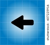 arrow points to the left.... | Shutterstock .eps vector #607225916