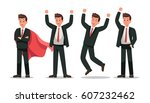 set of businessman character... | Shutterstock .eps vector #607232462