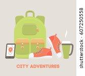 vector flat illustration of a... | Shutterstock .eps vector #607250558