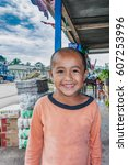 Small photo of Alta Verapaz, Guatemala - December 13, 2016: Young boy portrait. The boy is from the small village in the rural area of Alta Verapaz district in Guatemala.