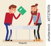 a worker handing a dispute... | Shutterstock .eps vector #607278206
