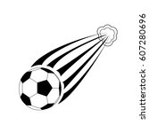 soccer ball in flight   Shutterstock .eps vector #607280696