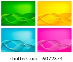 set of abstract retro vector... | Shutterstock .eps vector #6072874